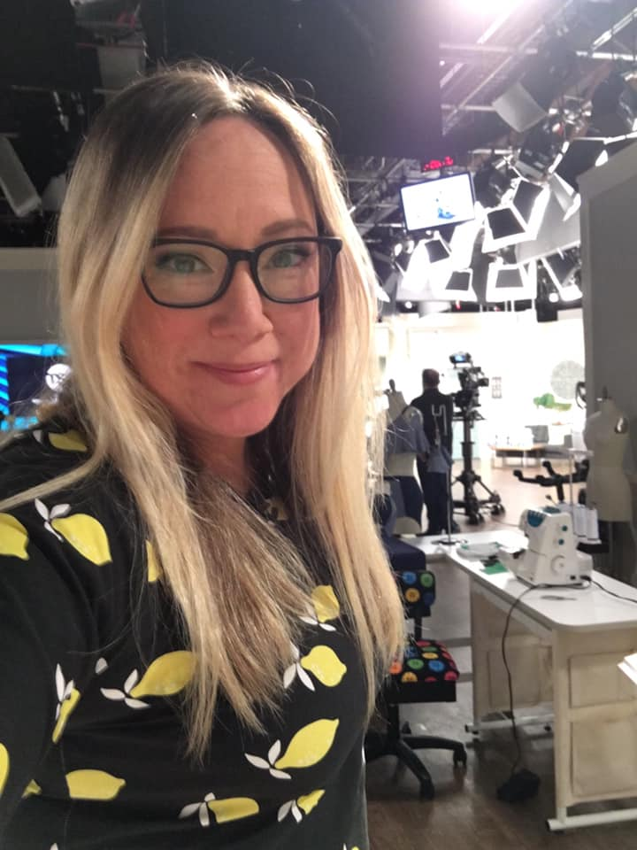 Jennifer Tryon wearing homemade T-Shirt on the set at TSC.