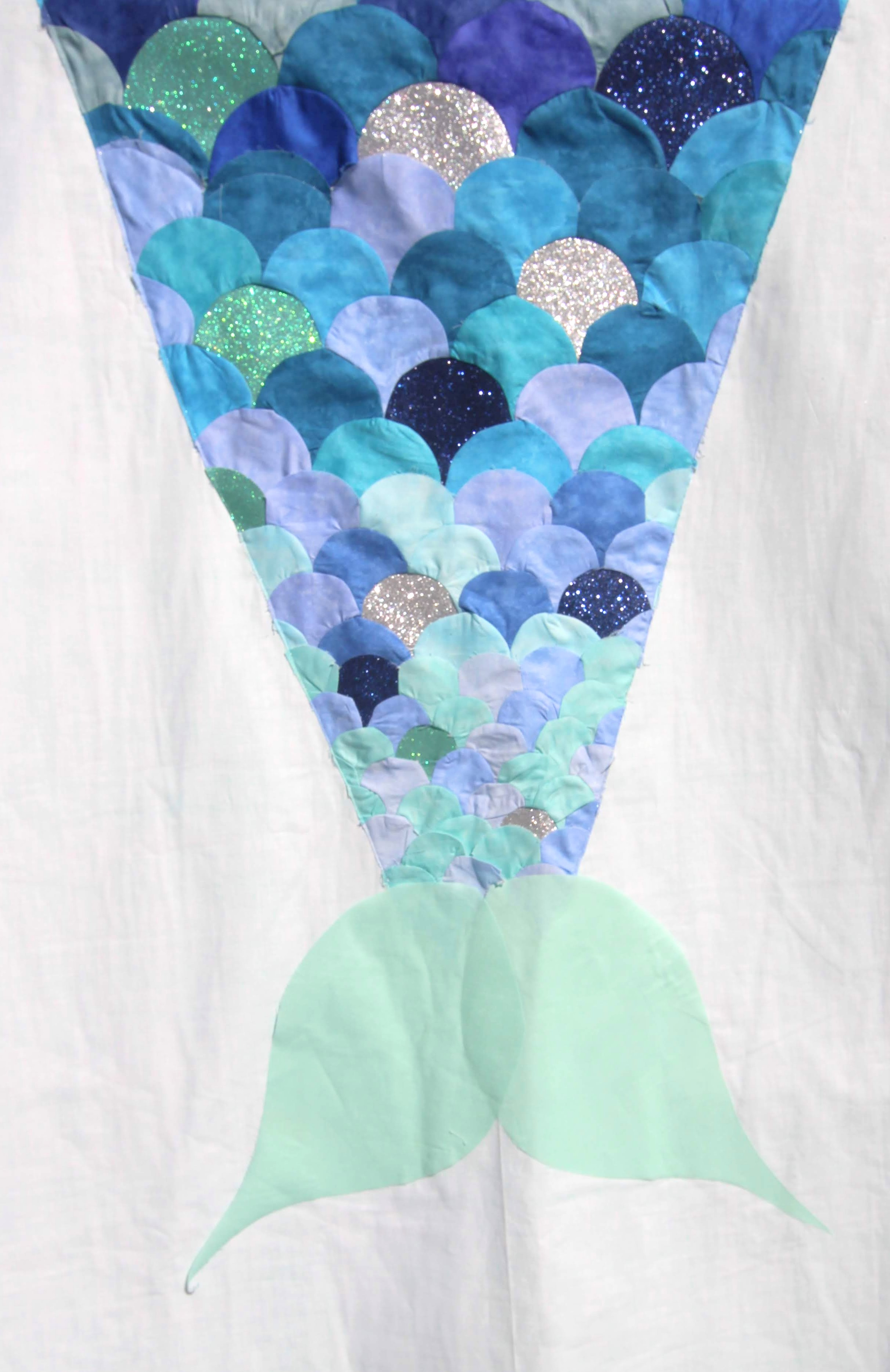 Patchwork Die Mermaid Tail
