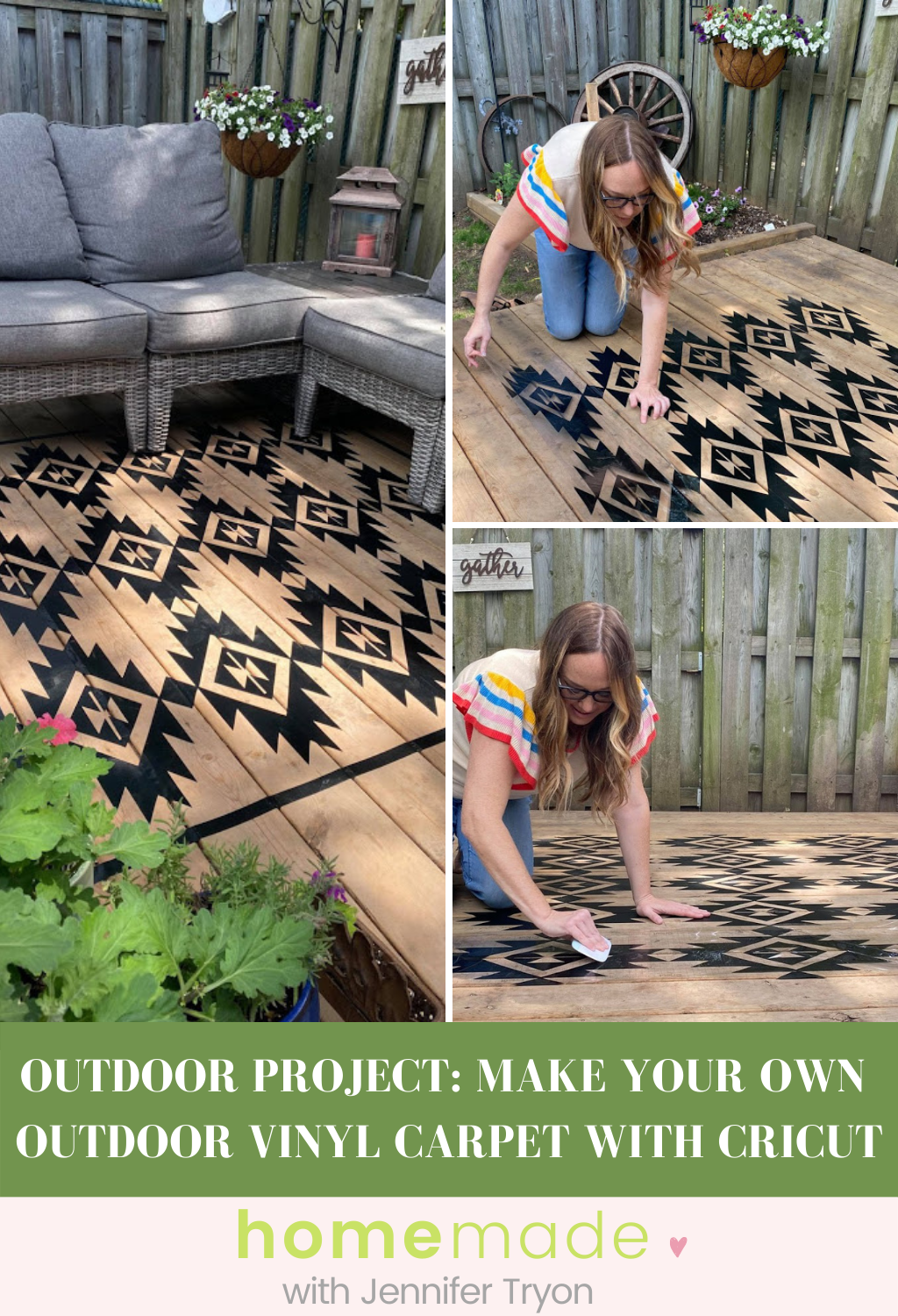 outdoor project make your own outdoor vinyl carpet with cricut