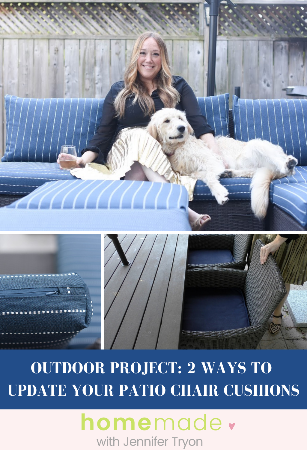 Outdoor Project: 2 Ways To Update Your Patio Chair Cushions